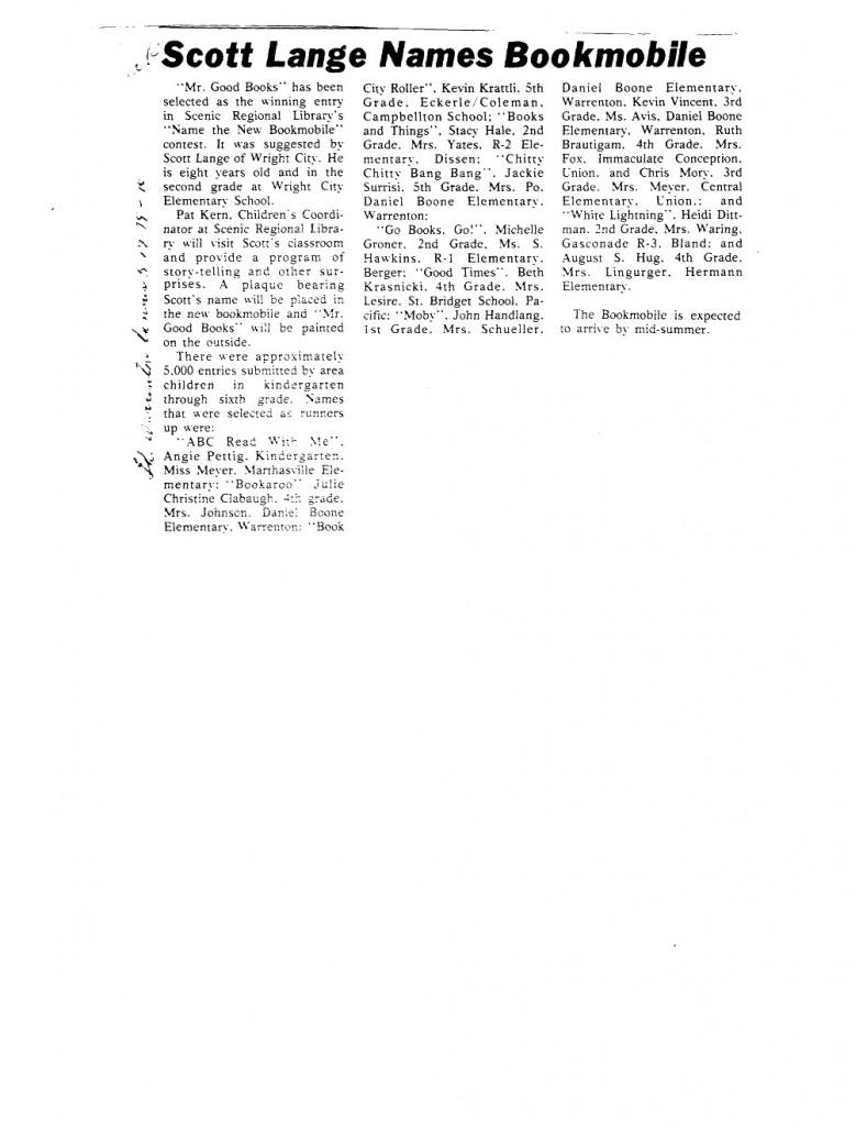 5 17 79 warrenton banner scott lange names bookmobile mr good books