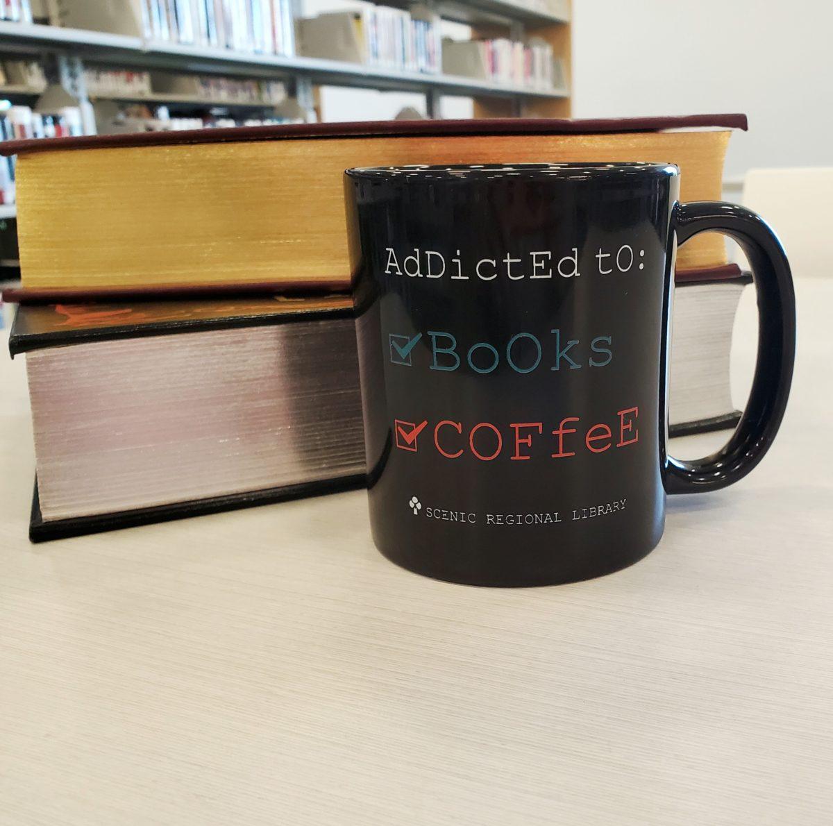 Addicted to Books and Coffee Mug
